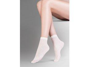 Dámske ponožky Mia Gabriella, vzorované, moderné, vo farbe: smoky, beige, ecri, ponožky s netlačiacou gumouuniverzálna veľkosť one size,
