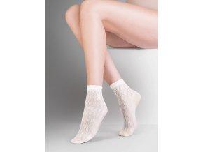 Dámské ponožky Ava Gabriella ,vzorované, priehľadné, vo farbe: beige, nero, univerzálna veľkosť one size, excluzívne priesvitné ponožky vyrobené z vlákien elastan
