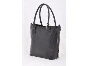 Čierna kabelka s ozdobným zipsom