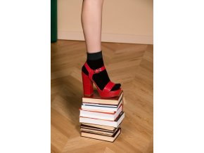 Dámske ponožky LEX Gabriella, netlačiaca guma,vo farbe: nero (čierna)/emerald,nero/bordo, univerzálna veľkosť one size, vyrobené z elastických vlákien, zaručujú pocit mimoriadneho pohodlia