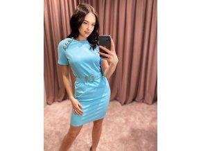 Dámske svetlo - modré šaty