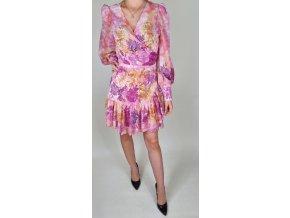 Dámske ružové zavinovacie šaty