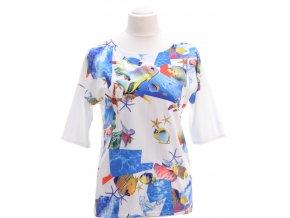 Biele tričko s morským motívom