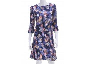 Tmavo modré šaty s kvetinovým vzorom