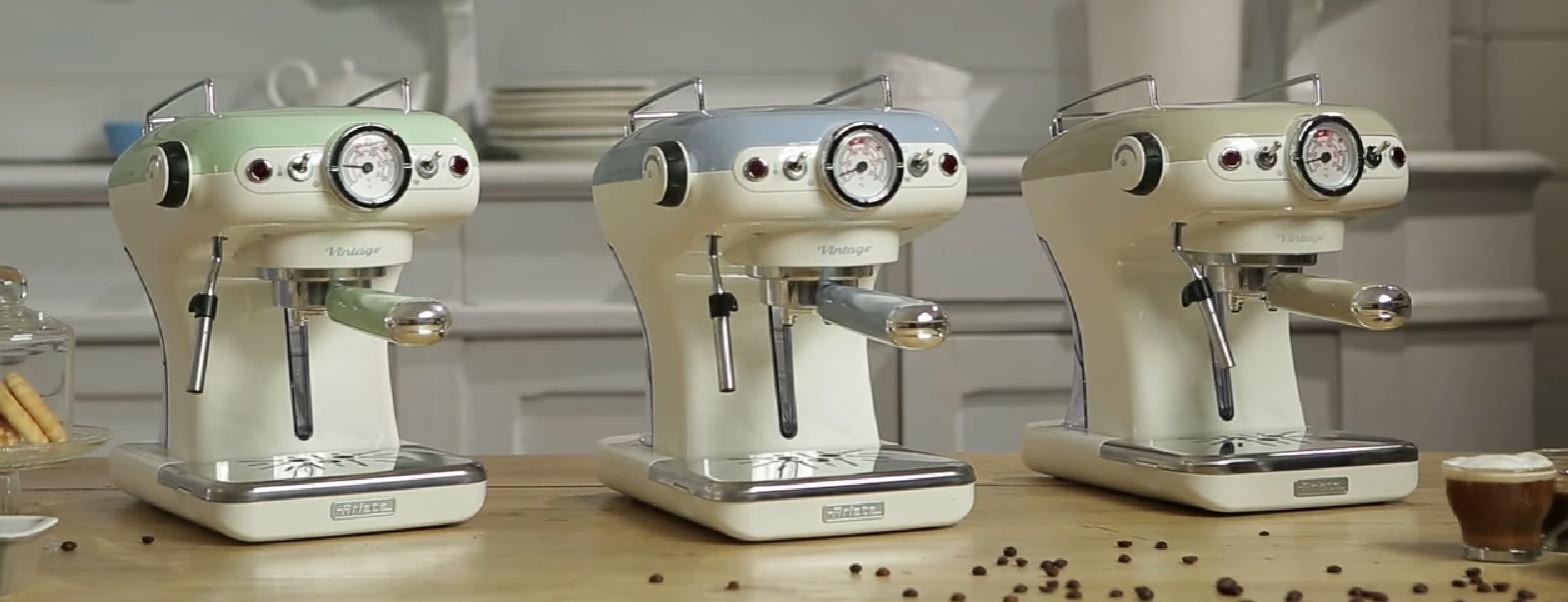Ariete Vintage Espresso kávovar, krémový, 138913 image