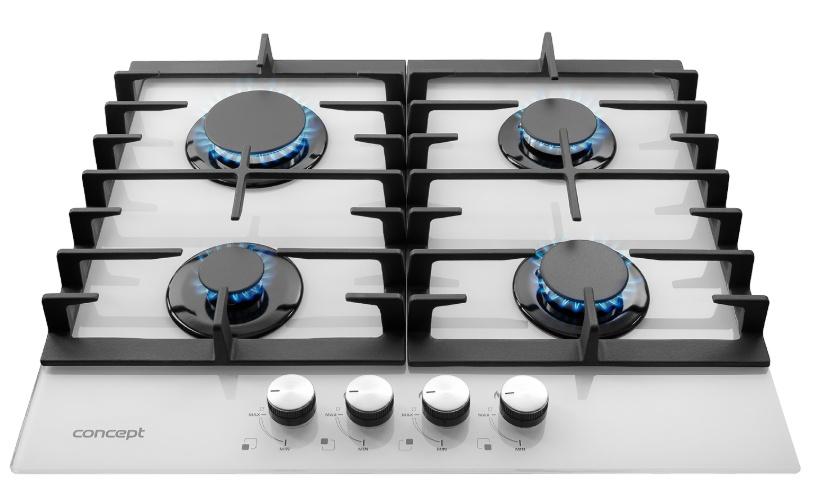 Concept PDV7060 WH plynová varná deska bílá image 1