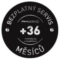 Philco záruka 5let