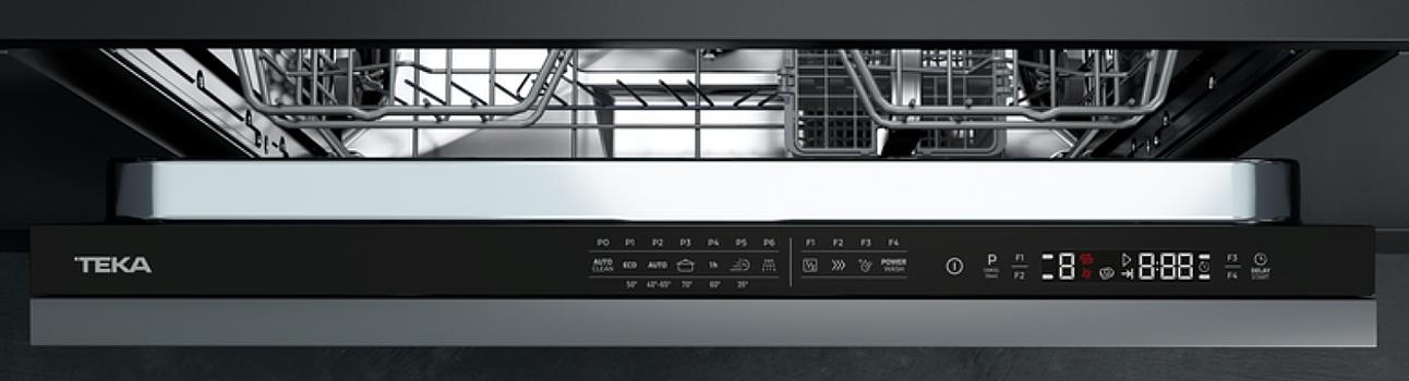 Teka DFI 46700 plně integrovaná myčka - ovládací panel teka
