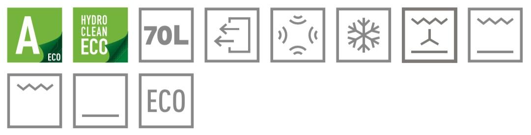 Teka HRB 6100 černá rustikální trouba - ikony