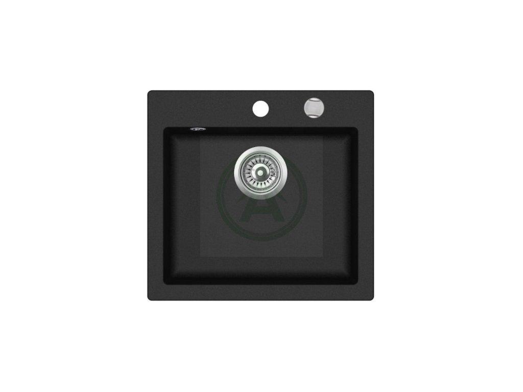 Teka LIVO 50 S TQ granitový dřez černý