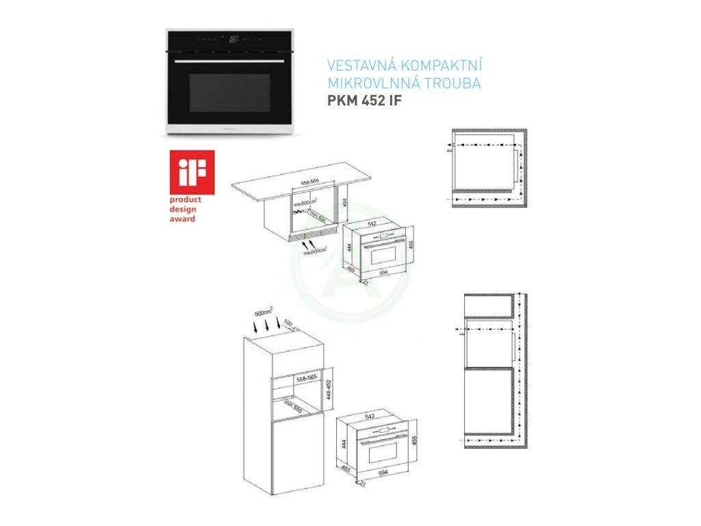Philco PKM 452 IF vestavná mikrovlnná trouba +ZÁRUKA 5 LET