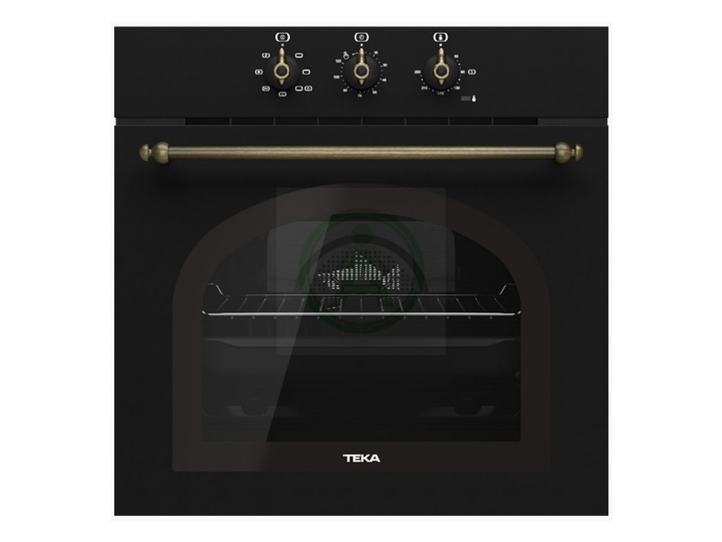 Teka HRB 6100 černá rustikální trouba
