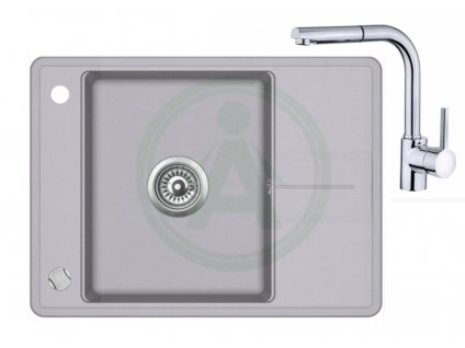 Set Teka STELA 50 S TQ granitový dřez šedý + baterie ARES B 938