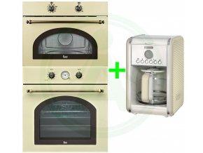 Teka HR 750 béžová + MWR 32 BI béžová set retro rustikal + retro kávovar