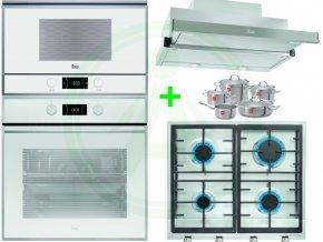 Vestavný set Teka HLB 840 trouba bílá + ML 822 BIS mikrovlnná trouba + odsavač CNL 6610 + plynová deska EX 60.1 4G AI AL CI + sada profi nádobí