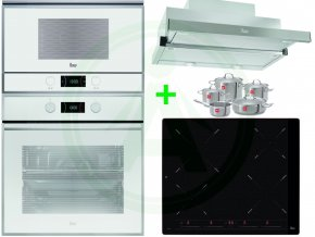 Vestavný set Teka HLB 840 trouba bílá + ML 822 BIS mikrovlnná trouba + odsavač CNL 6610 + indukční deska IB 6415 + sada profi nádobí