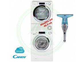 SET Candy GVS4 137TWHC32 S +CANDY GVS4 H7A1TCEX S SLIM sušička + Hoover čistič oken 1
