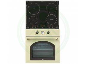 Teka HR 750 béžvá + IBR 6040 set retro rustikal