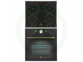 Teka HR 750 černá + IBR 6040 set retro rustikal