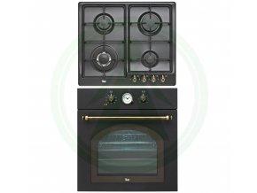 Teka HR 750 černá + EH 60 4G AI AL TR retro set