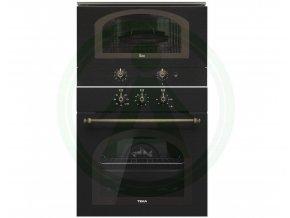 Teka HRB 6100 černá rustikální trouba + retro mikrovlnná trouba MWR 22 BI