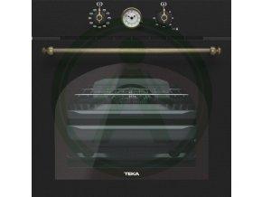 Teka HRB 6400 černá rustikální trouba + retro mikrovlnná trouba MWR 22 BI + IBR 6040 + DOS 60.1 odsavač