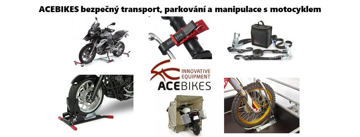 Acebikes bezpečná přeprava, parkování motocyklů a skútrů