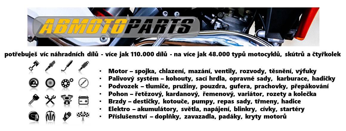 potřebuješ víc náhradních dílů - více jak 110.000 dílů - na více jak 48.000 typů motocyklů, skútrů a čtyřkolek