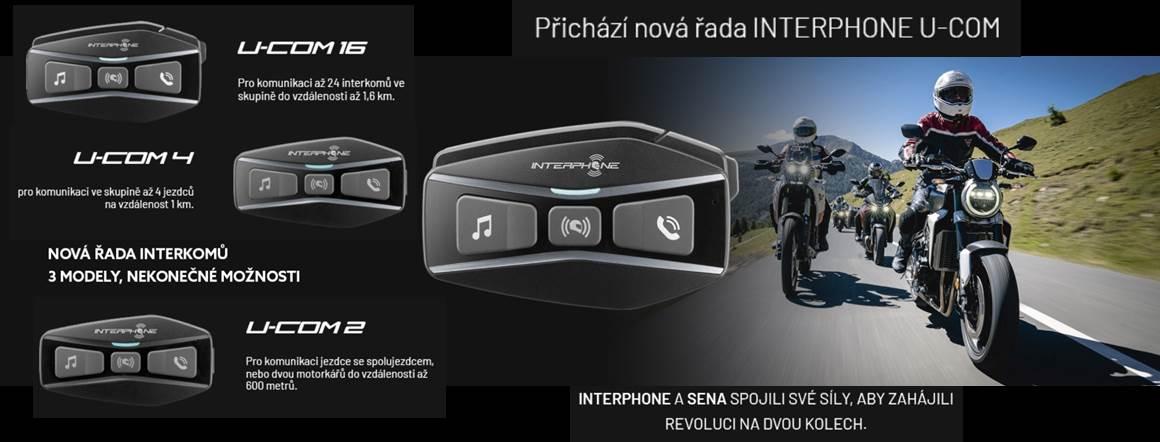 Bluetooth headset pro uzavřené a otevřené přilby Interphone U-COM