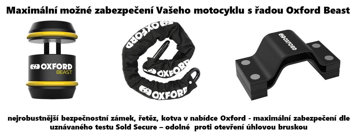 Oxford maximální zabezpečení Vašeho motocyklu