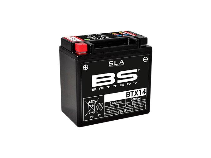 Motocyklová baterie BS-BATTERY BTX14 (YTX14)