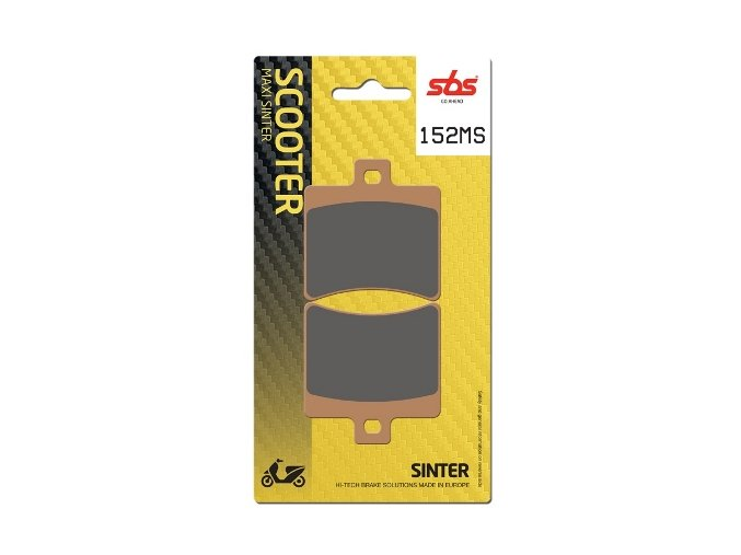 152MS sintrované brzdové destičky SBS pro skútry