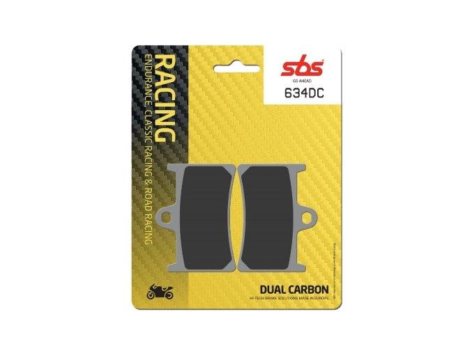 634DC Dual Carbon závodní brzdové destičky SBS