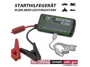 Startovací Booster + Power Bank BC K1200 LiFePO4