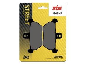 644HF keramické brzdové destičky SBS pro motocykly