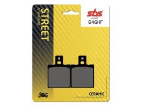 646HF keramické brzdové destičky SBS pro motocykly
