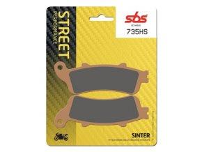 735HS sintrované brzdové destičky SBS