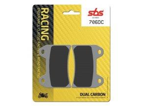 706DC Dual Carbon závodní brzdové destičky SBS