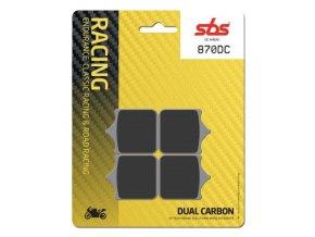 870DC Dual Carbon závodní brzdové destičky SBS