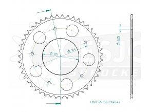 ESJOT 29040-47 řetězová rozeta 47
