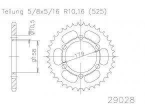 ESJOT 29028-45 řetězová rozeta 45