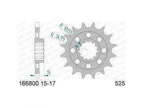 AFAM 166800-17 řetězové kolečko přední