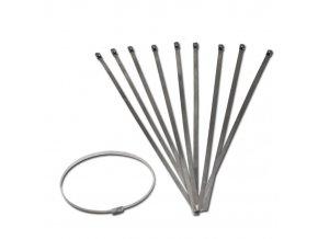 Stahovací ocelový drc pásek