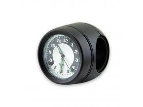 Quartz analogové hodiny s objímkou na řidítka