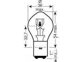 Žárovka JMP S2 12V 35/35 Watt BA20d