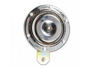 klakson chrom 12V, 100dB, průměr 100 mm