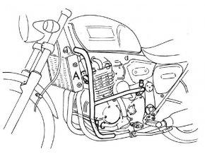 Triumph Thunderbird 900 padací rámy Hepco Becker