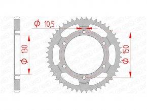 AFAM 10502-48 řetězová rozeta zadní