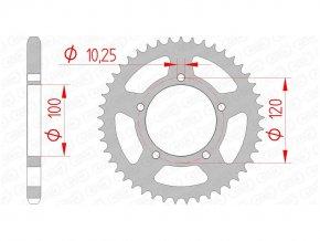 AFAM 35800-42 řetězová rozeta zadní