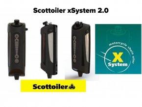nový Scottoiler xSystem 2.0 automatické mazání řetězu